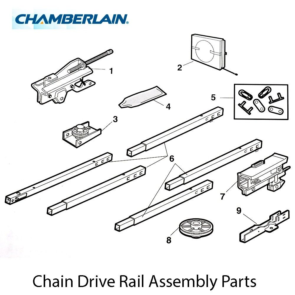 Chamberlain 41c2761 1 Chain And Cable 10 Foot Rp 45 54 Sp 39 95 Assembly Square Diy Online Chain Drive