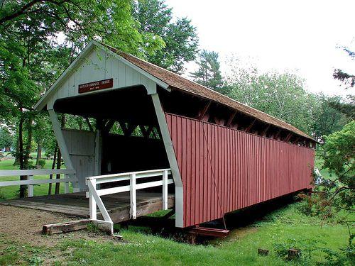 Bridges of Madison County - Cutler Donahue Bridge in Winterset Park