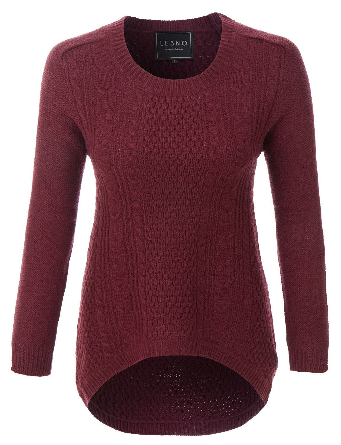Womens Oversized Cozy Long Sleeve Soft Knit Pullover Sweater ...