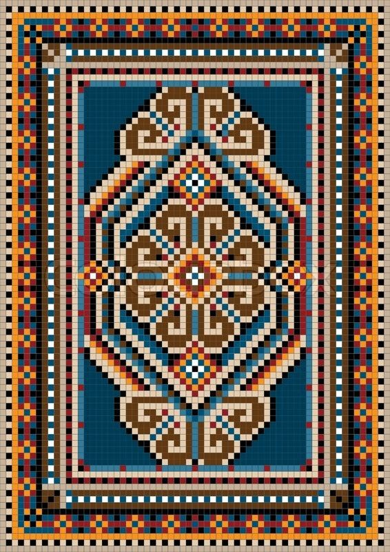 Get this hi-res stock vector The ancient oriental design with a frame for carpet. Buy as single download or save up to 90% with a subscription.