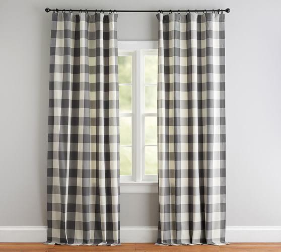 Buffalo Check Curtain Gray With Images Buffalo Check Curtains Check Curtains Curtains