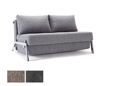 Cubed Convertible Loveseat Full & Queen Size in Chrome by ...