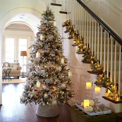 Beaded Tree Collar Silver Amazing Christmas Trees Holiday Decor Christmas White Christmas Ornaments