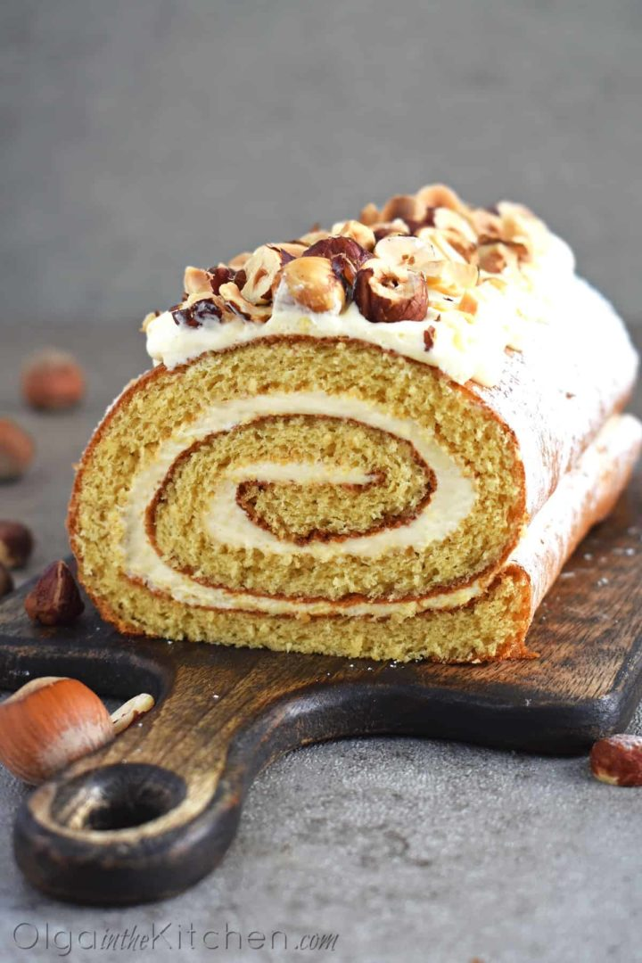 Honey Cake Roll With Condensed Milk Frosting Olga In The Kitchen Recipe In 2020 Cake Roll Recipes Honey Cake Cake Roll