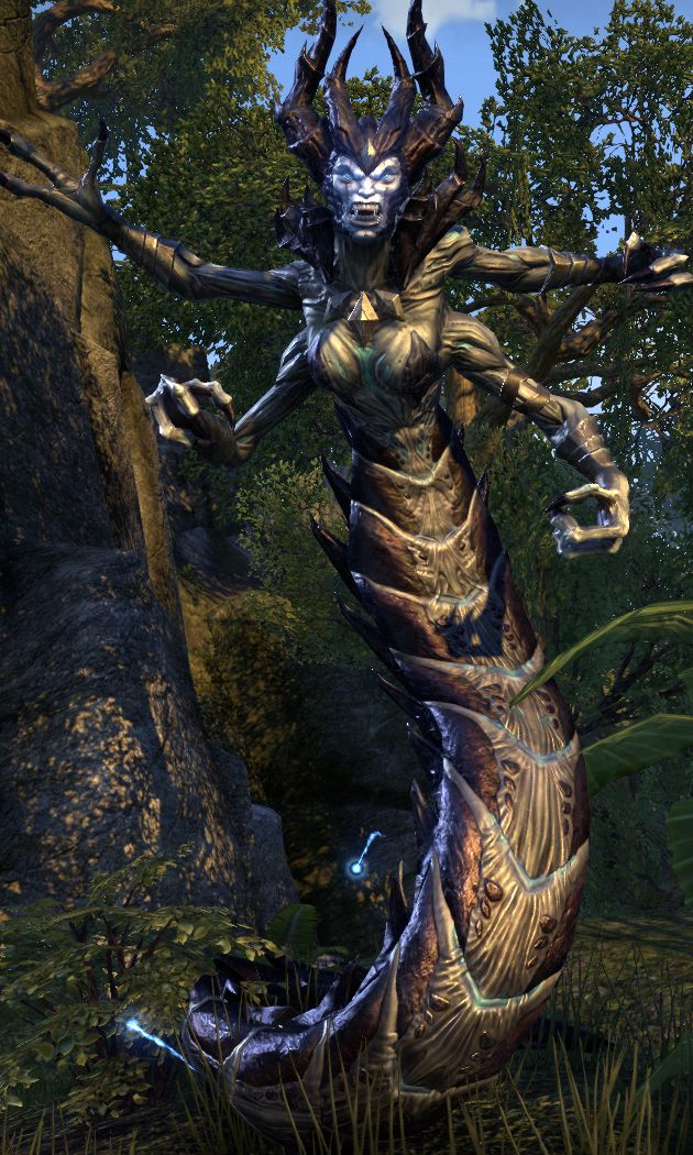 Harvesters Are Four Armed Snake Like Daedra That Serve The Daedric