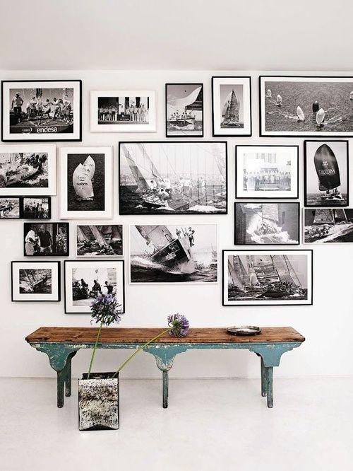 Bilderwand bilderwand petersburger h ngung pinterest - Wandschmuck wohnzimmer ...