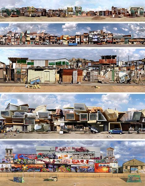 Photographic Collages Shanty Towns Of Sao Paolo And Rio De Janeiro Brazil Artist Architecture CollagePhoto CollagesFamous ArtistsBrazil