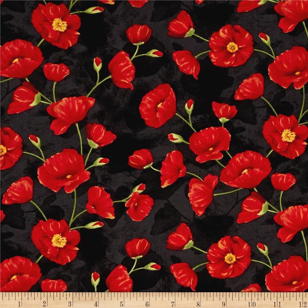 poppy print fabric - photo #13