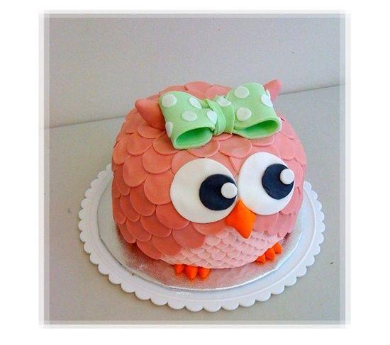 Pink Owl Kids Birthday Cake Celebration Cake Pinterest Pink