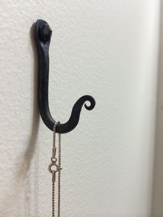 Set Of 20 Small Wrought Iron Hooks Display By Vermontforgings