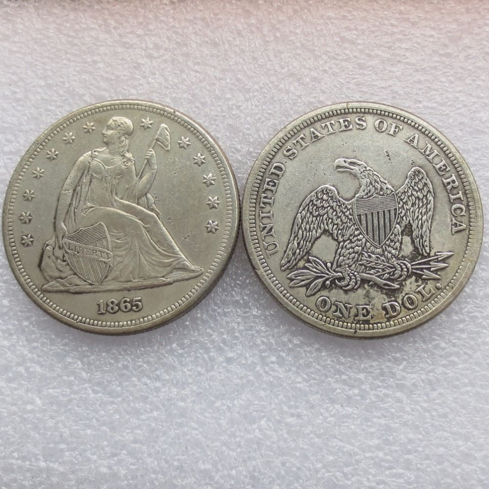 America Coins 1865 P Seated Liberty Silver Dollars High Quality Silver Dollar Coins Silver
