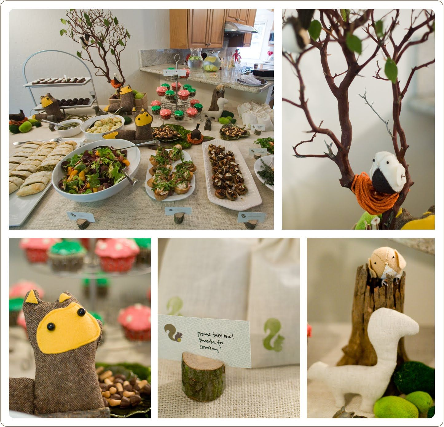 Woodland animal themed baby shower on pinterest woodland for Animals decoration
