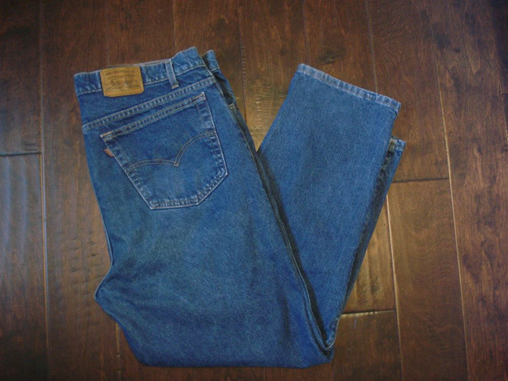 VTG Levi's Brown Tag 540 Relaxed Fit men's denim blue Jeans 41 X 30 #Levis #Relaxed