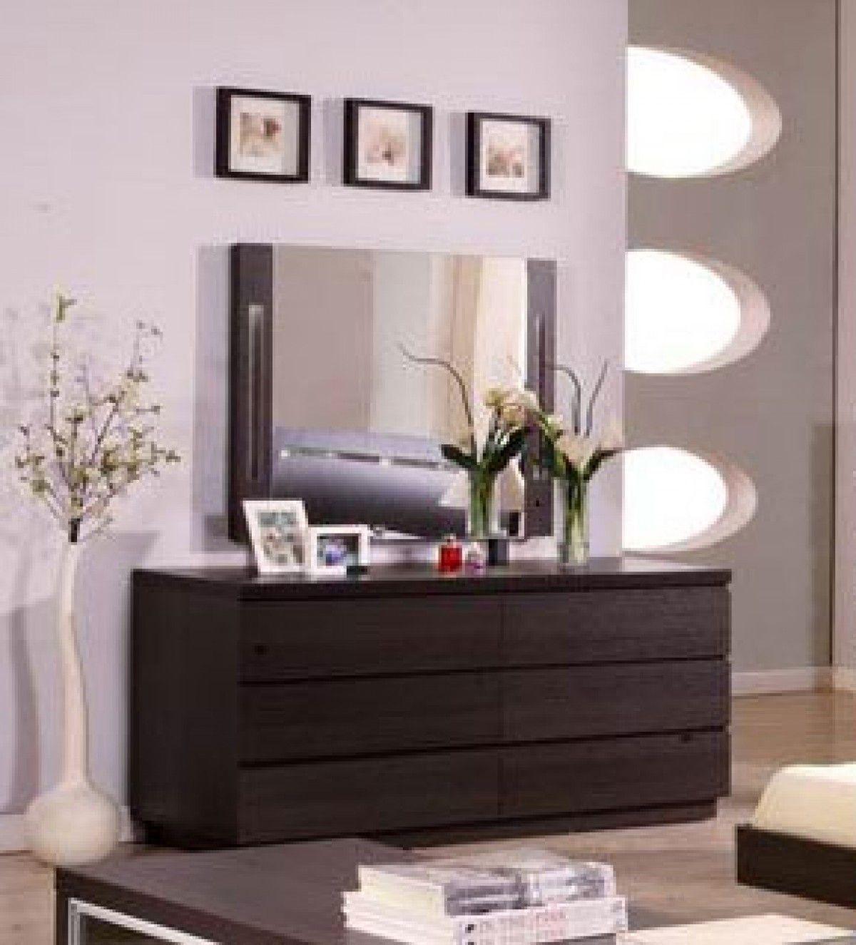 Modern dressing table mirrors modrest capri modern wenge double dresser w mirror  vgdafcdsr
