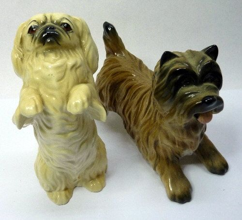 Two Beswick Dogs Cairn Terrier Standing Model Number 3082