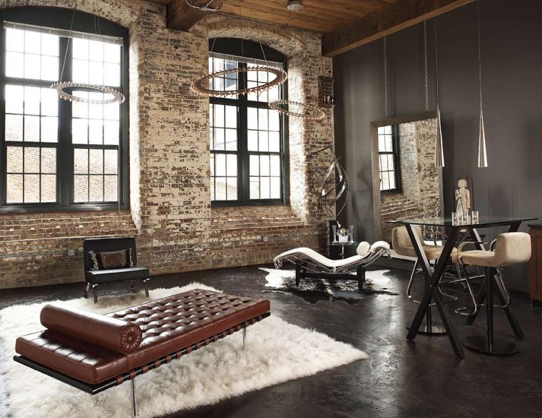 Palette de couleur salon d coration avec des tons fonc s salon ambiance - Deco salon style industriel ...
