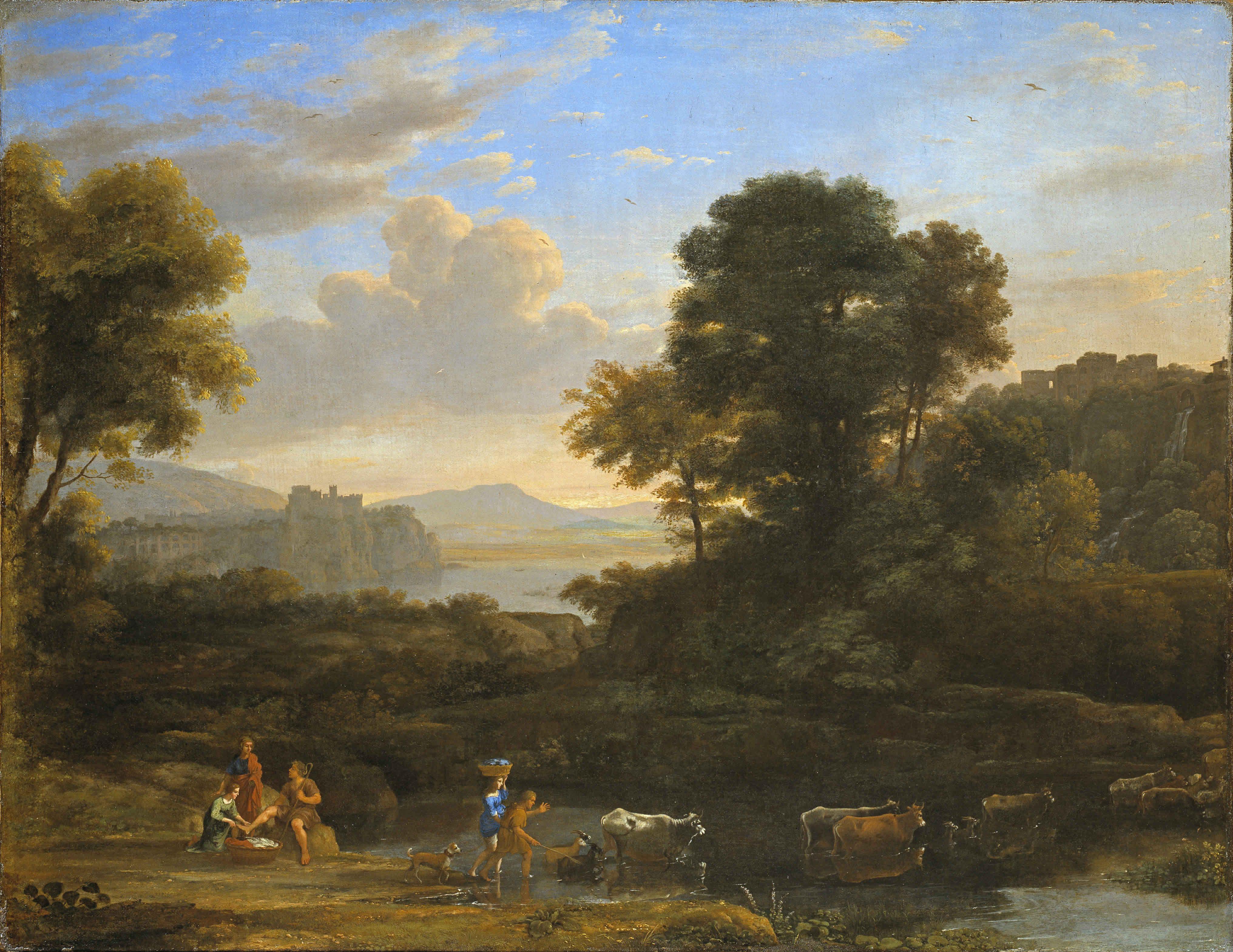 Claude Lorrain Born Gell 1600-1682pastoral