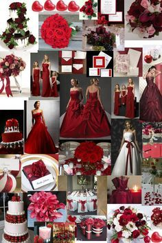 Red Grey And White Wedding