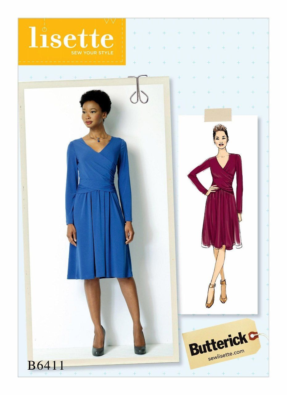 Long Sleeve Dress Pattern, Knit Dress Pattern, Pullover Dress ...