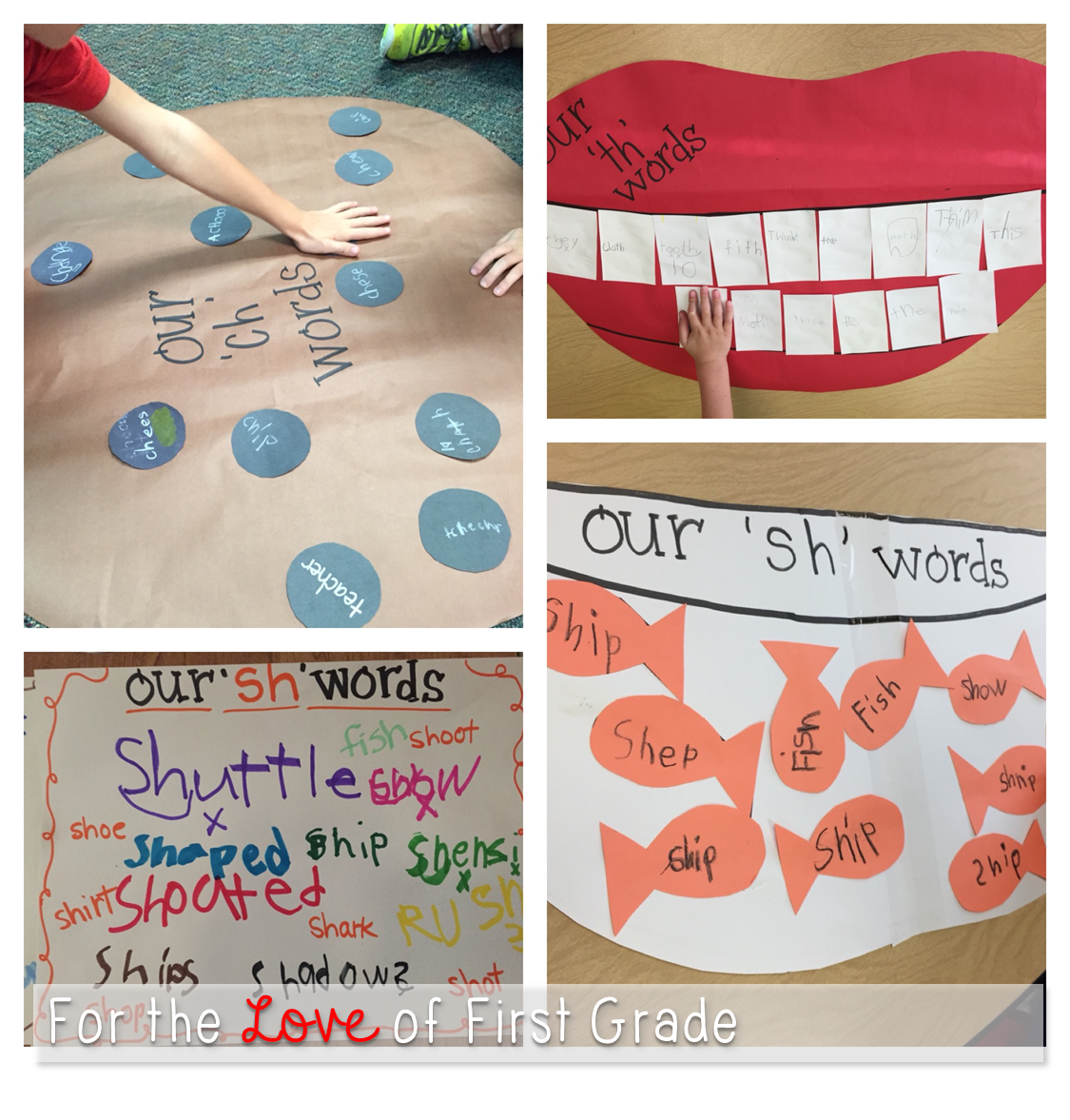 Th Ch And Sh Words Using A Giant Pictorial As A Clue To