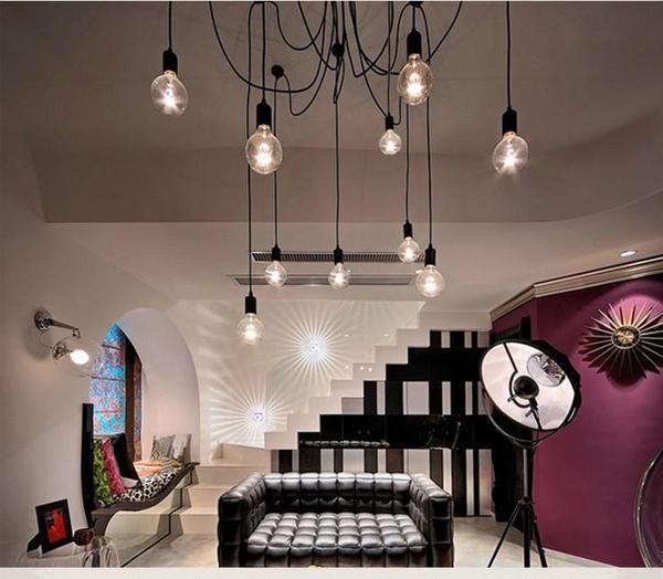 The Warmly Spider Chandelier   Light bulb chandelier ...