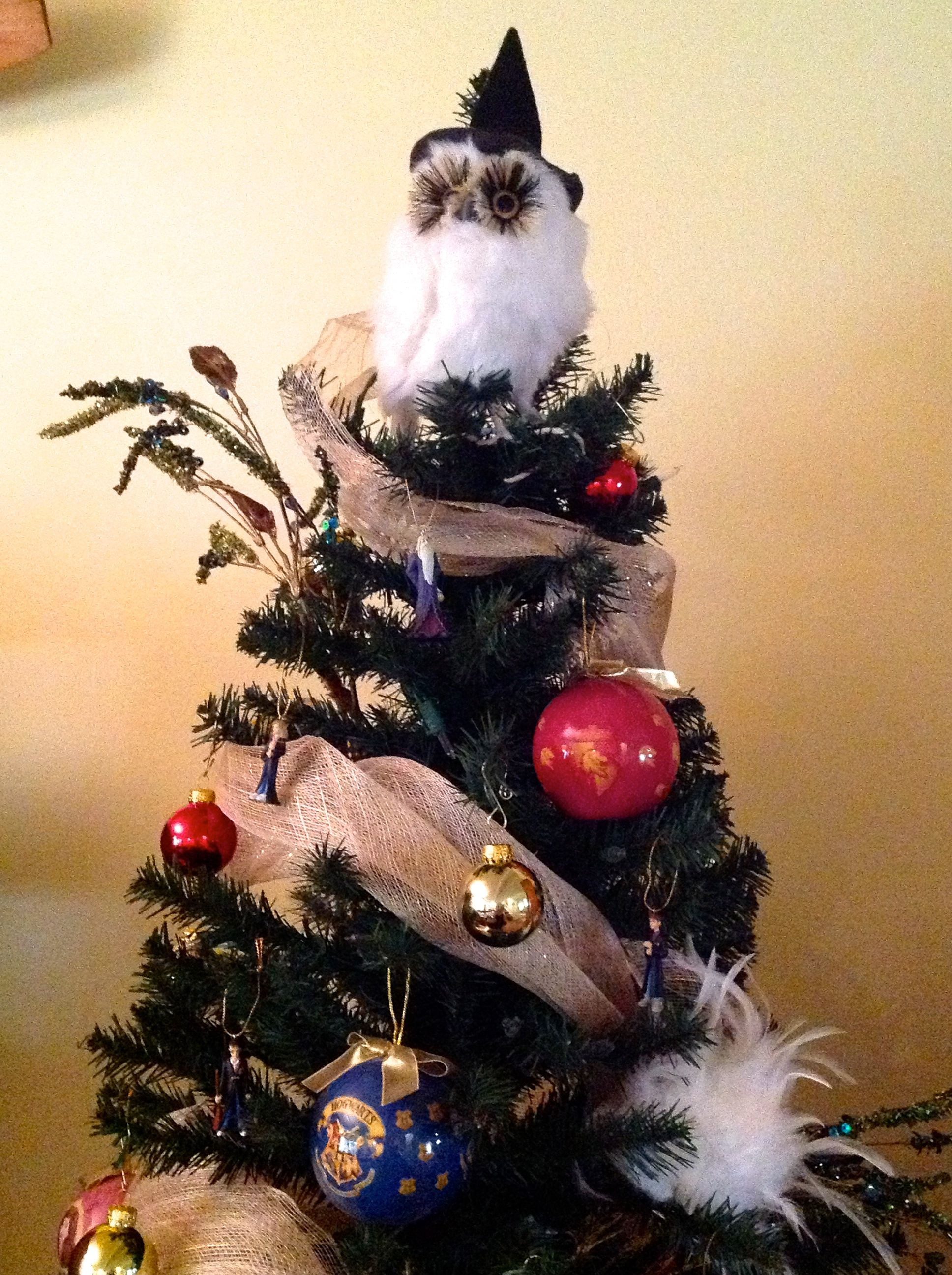 Hedwig Christmas Tree Topper Holiday Decorations Harry Potter