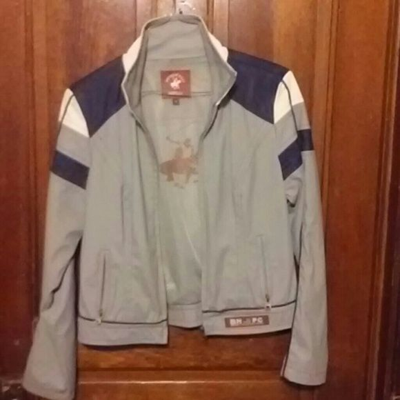Beverly hills polo jacket This is a good condition jacket with very small spots in a few places that barely showed in pics.Its not noticeable i seriously had to look to find what i did. has not been washed and can only be hand washed . beverly hills polo club Jackets & Coats Blazers