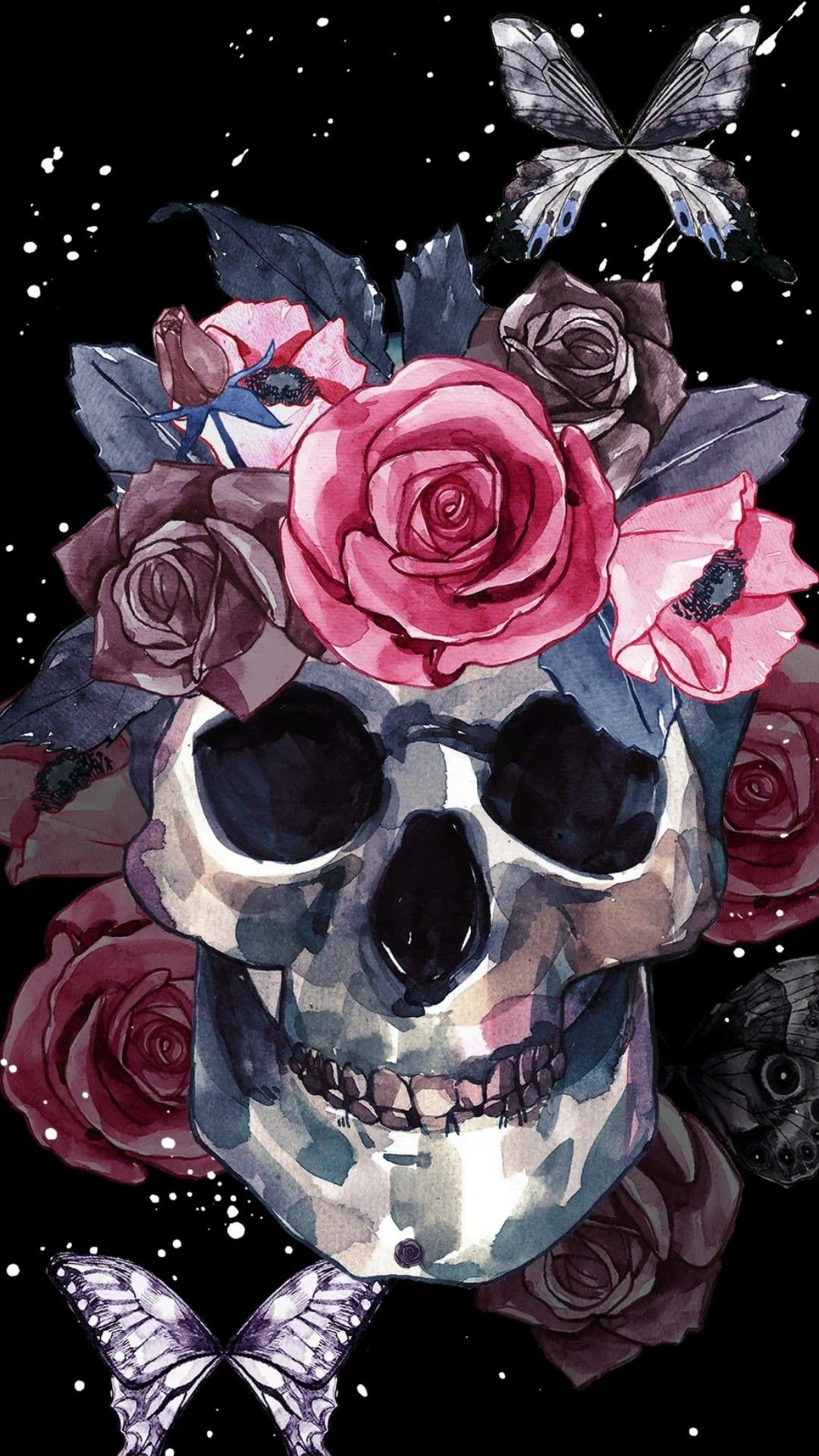 Pin By Lisa Green On Skulls Skull Wallpaper Iphone Skull