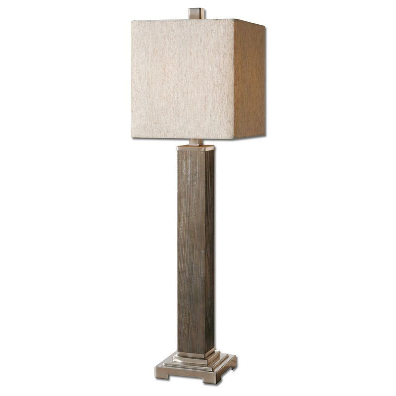 View the uttermost 29576 1 sandberg buffet lamp with square shade at lightingdirect com