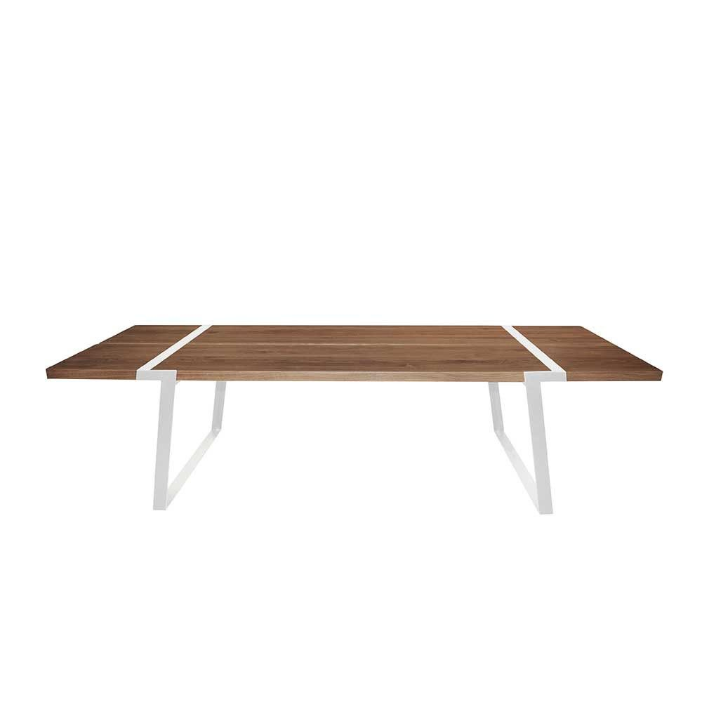 Fabelhaft Esstisch Massiv Eiche Galerie Von Tischplatte Weiße Tischbeine, Tisch Massiv-eiche Metall Weiß,