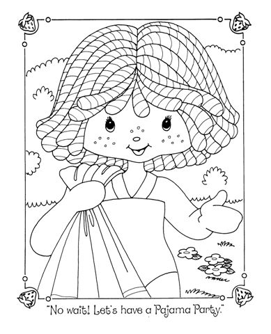 SSC Sleepover Colouring Book | Vintage Shortcake Coloring Books ...