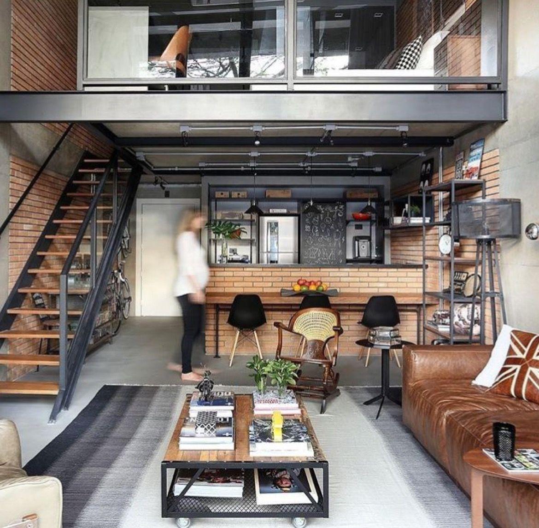 Industrial Loft: I Really Like That Black Bars Look. Metal And Lanolin Wood