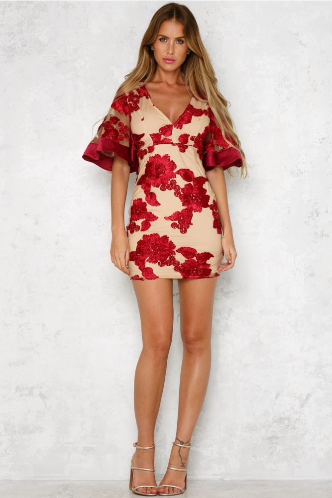 Four Seasons Dress Red