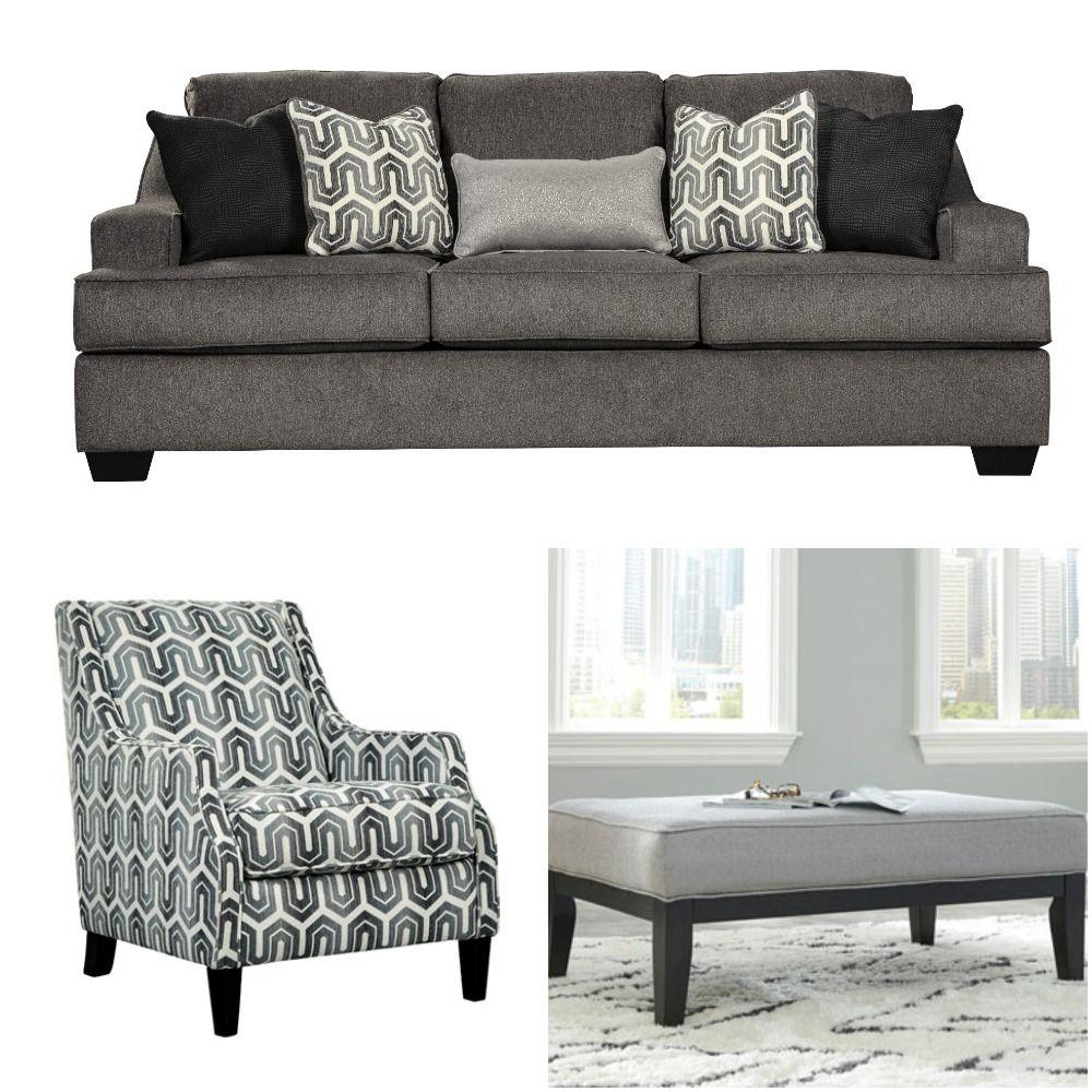 Ashley Furniture Gilmer Gunmetal Collection Interiordecor Design Sofa Accent Furniture Ashley Furniture Home Decor