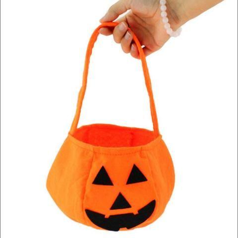 Smile Pumpkin Bag Kids Bag Children Gift, Delicate Halloween - decorate halloween bags