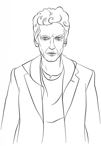 The Twelfth Doctor From Doctor Who Coloring Page Millie Marotta Coloring Book Doctor Who Printable Coloring Books