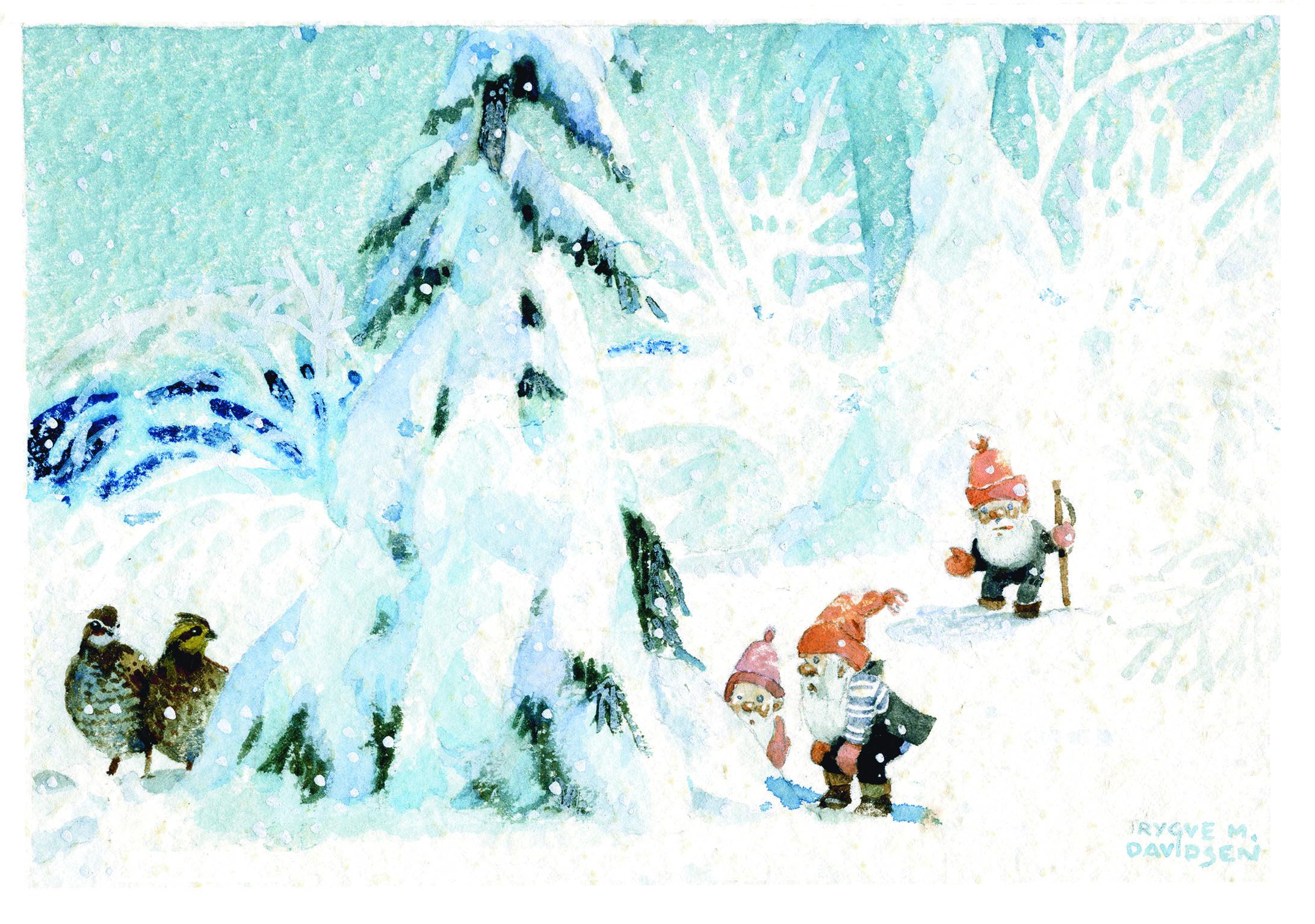 God jul med Trygve M. Davidsens julekort | Historielaget Grefsen ...