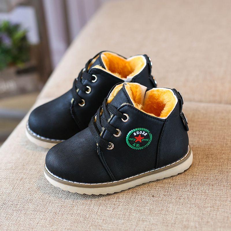 Enfants Chaussures Filles Garçons Martin Bottes Antidérapant Fond Mou  Enfants Espadrilles De Mode Confortable En Cuir (Bébé Petit Enfant) ue 21-30 c766f1690b7b