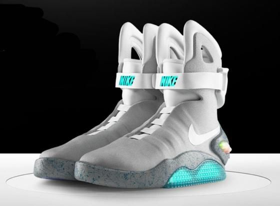 I found 'light up nike Mcfly shoes from back to the future