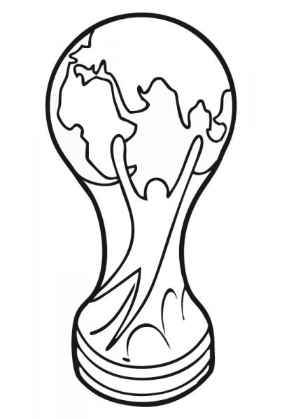 Dibujos Para Colorear De Trofeos Copa Del Mundo De Futbol Copas De Futbol Copa Del Mundo