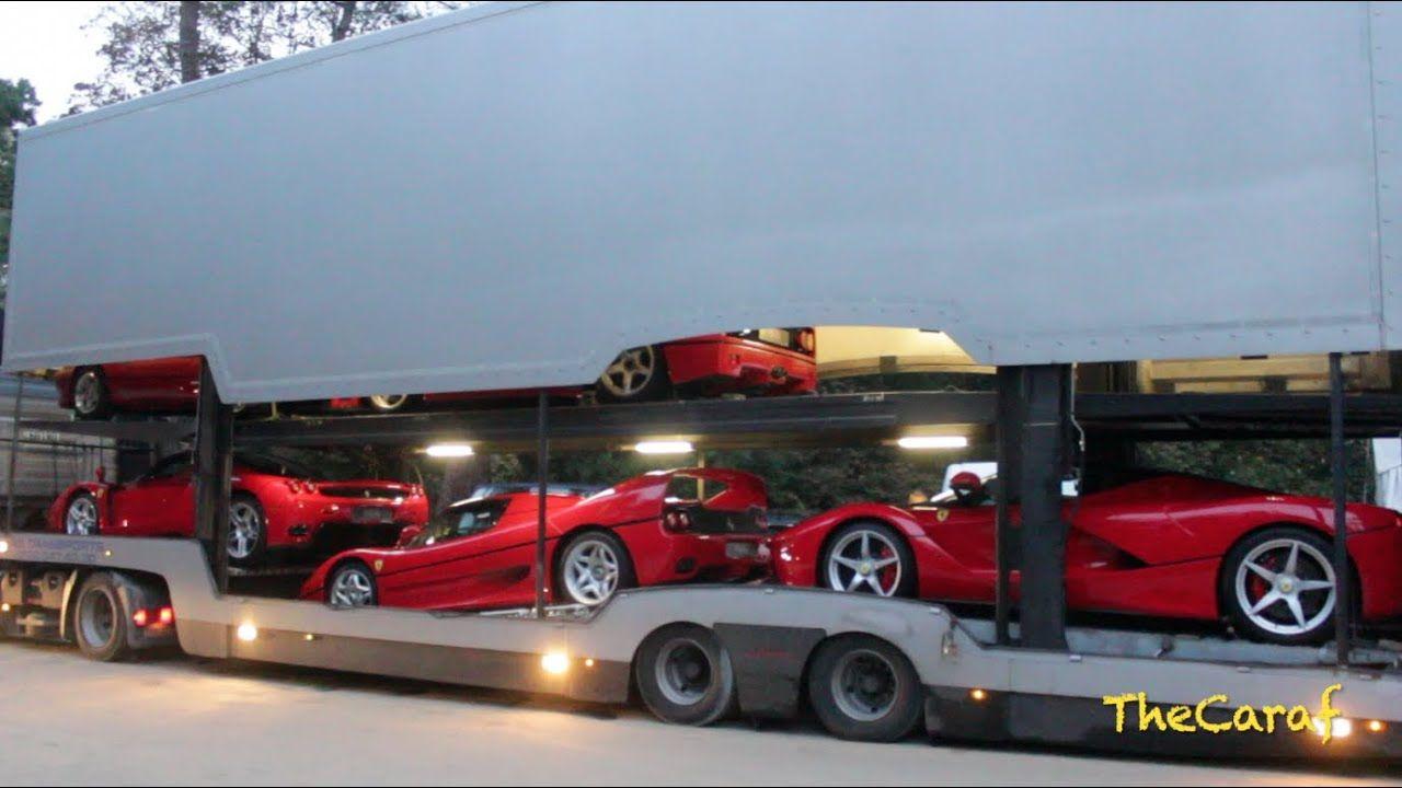 EXCLUSIVE!: LaFerrari, Enzo, F50, F40 & 288 GTO SOUND! unloading! Concou...