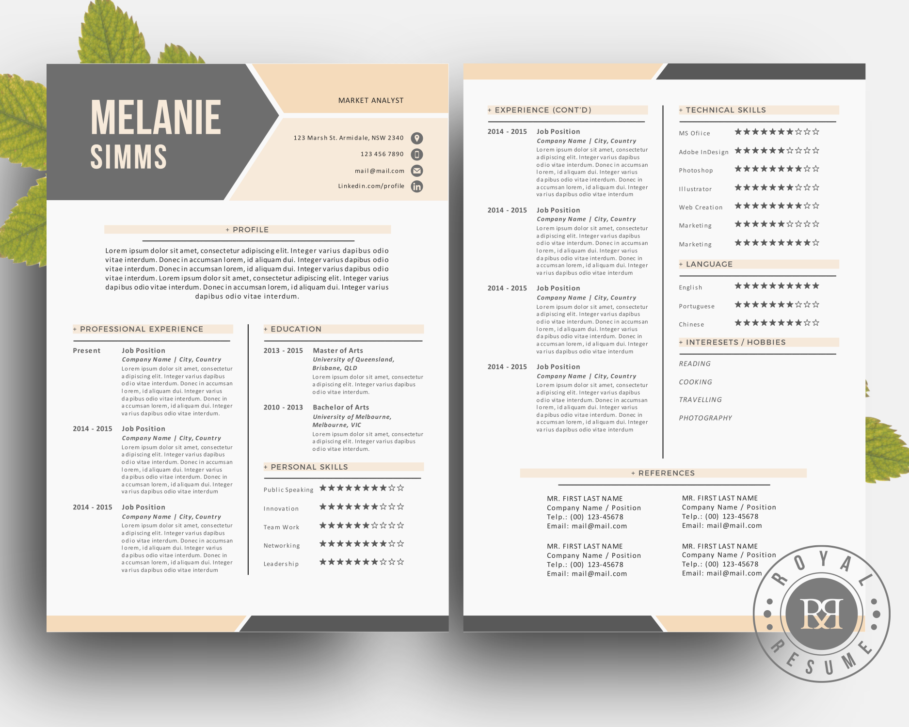 2 p resume pack for word - resumes