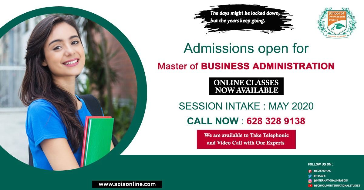 Admissions Open For International Mba May 2020 Intake In 2020 Masters In Business Administration Admissions Mba