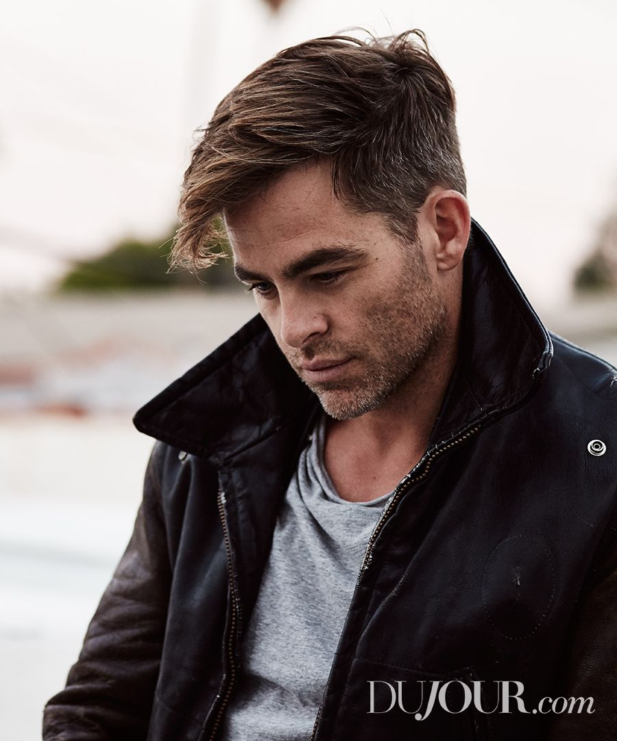 """""""The Finest Hours,"""" """"Star Trek,"""" and """"Wonder Woman"""" star Chris Pine in Schaeffers Garment Hotel and Bassike."""