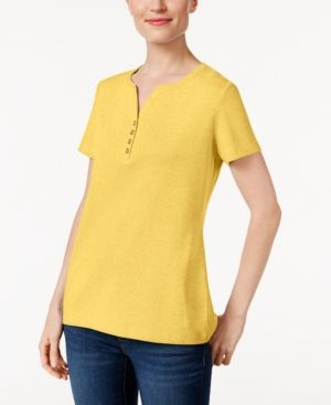 e44533f54a7f6 Karen Scott Henley T-Shirt