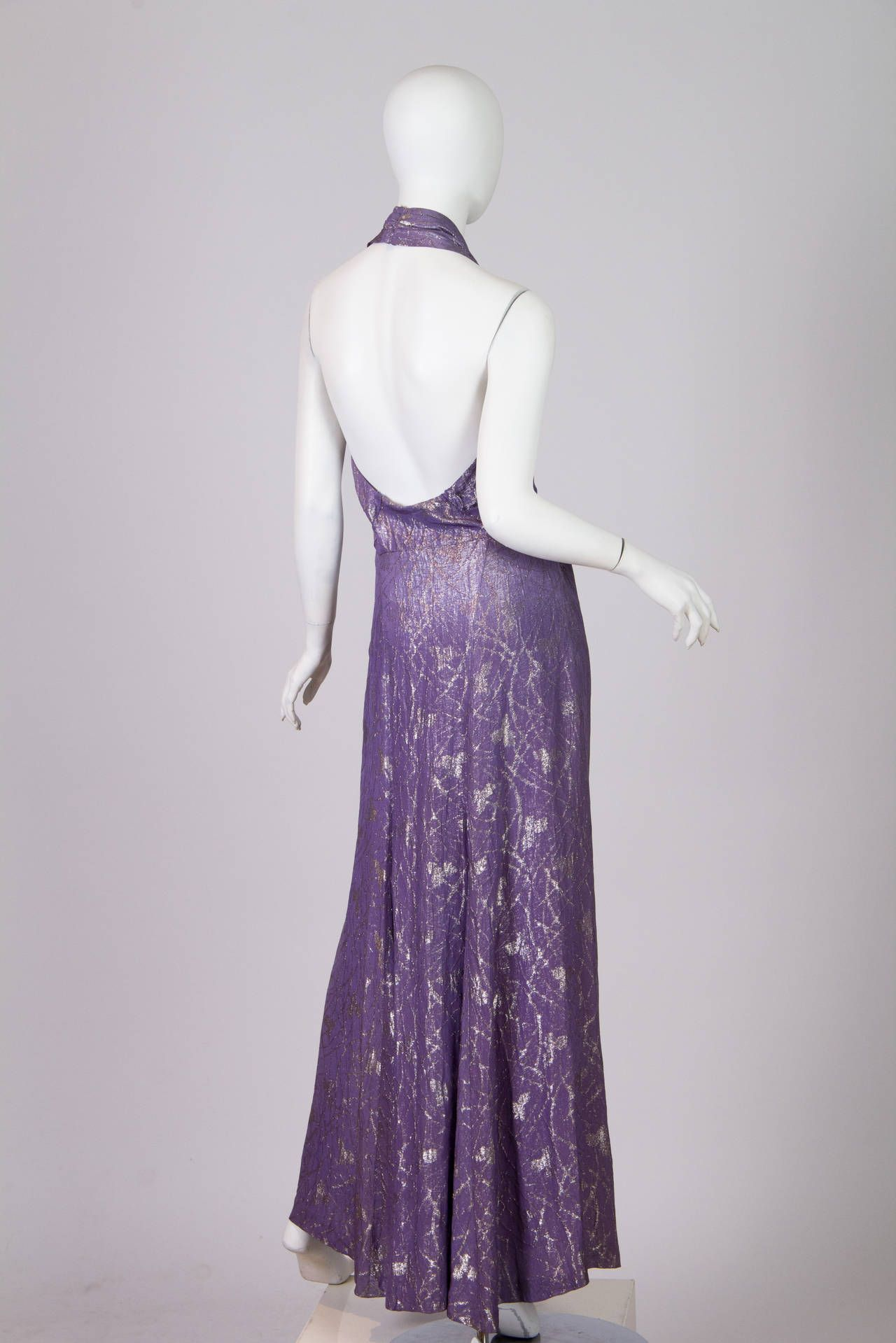 1930s Old Hollywood Silver Lamé Gown   1930s, Gowns and Vintage dresses