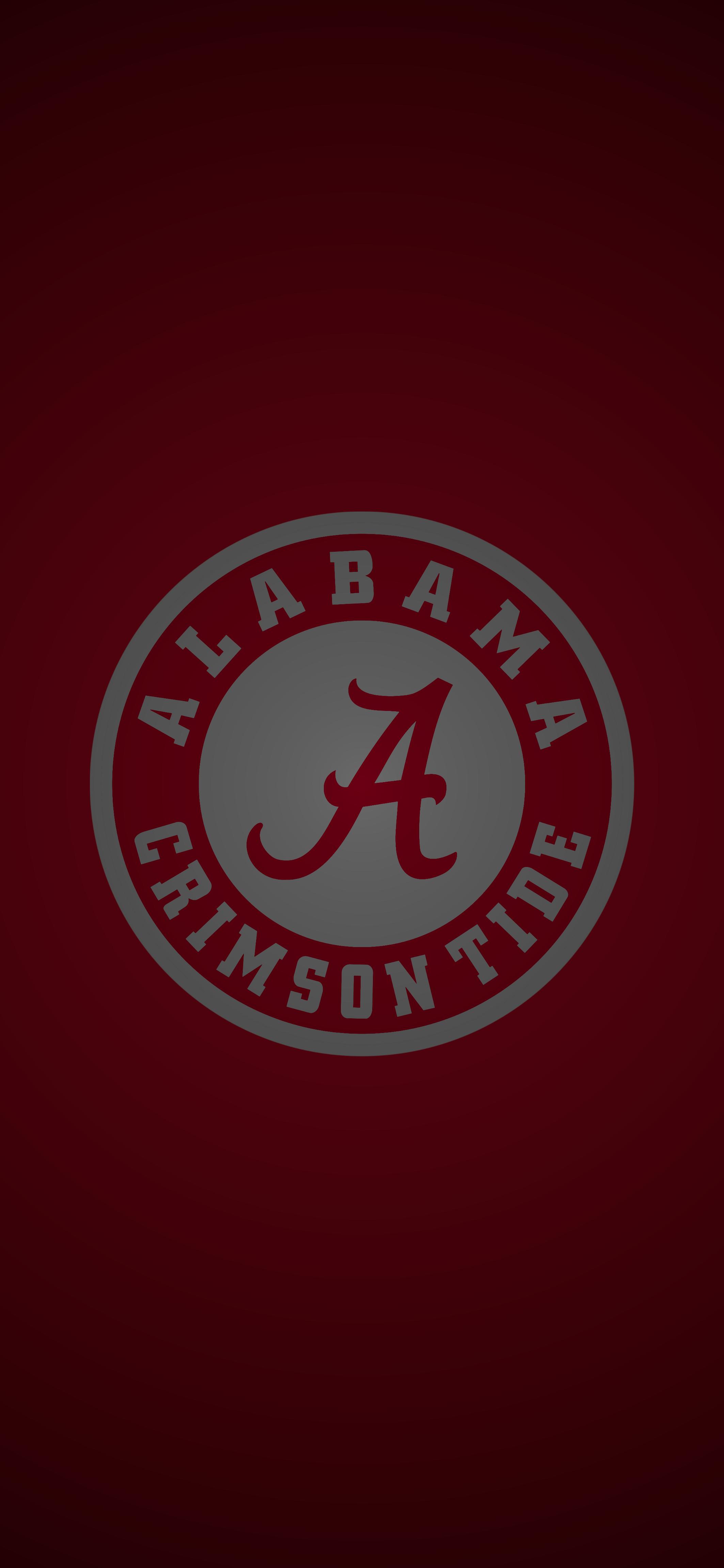 Alabama Crimson Tide Football Logo Iphone Wallpaper Alabama