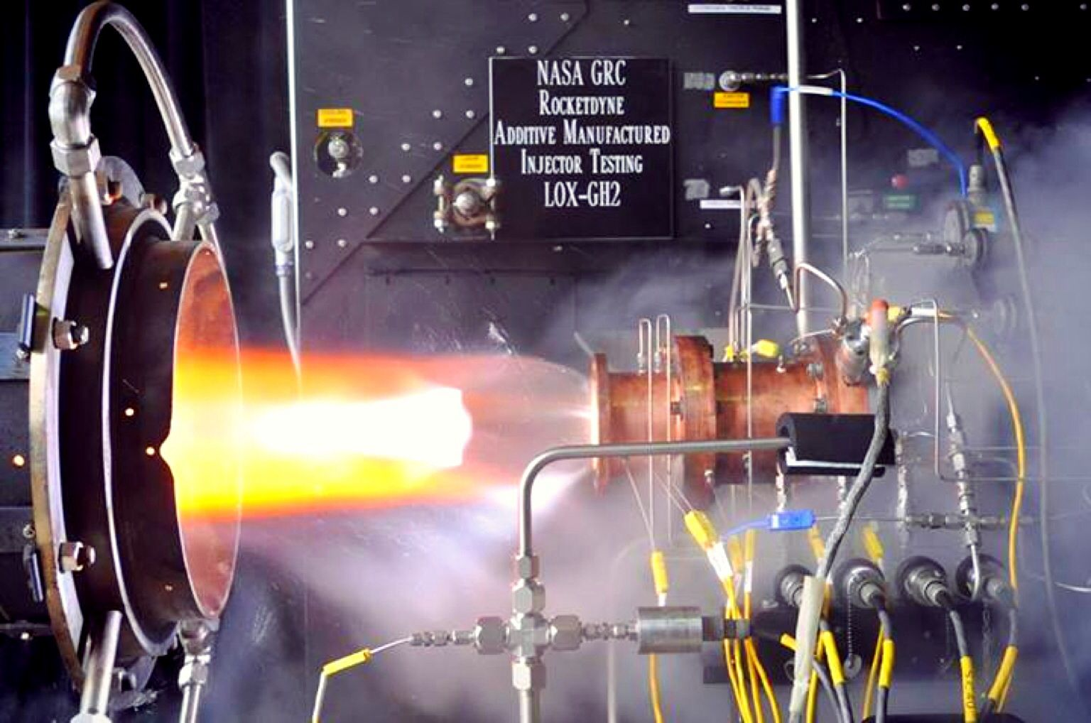 NASA has successfully tested 3D printed rocket components: http://cnet.co/1aNLQt7