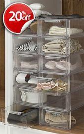 Stackable Shoe Drawer Aufraumen Organisieren Kinder