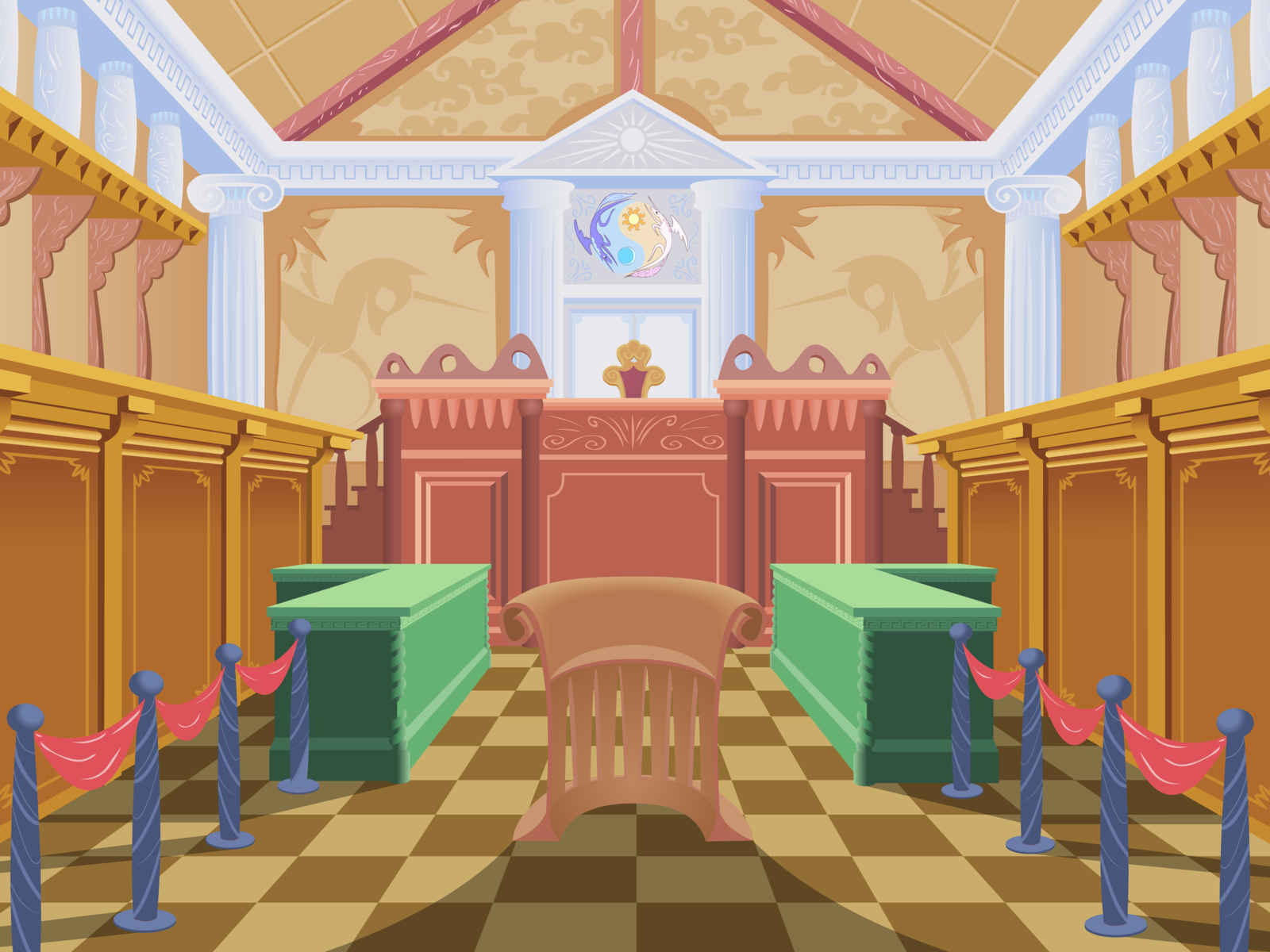 Ponyville Library Interior Background+-+canterlot+entrance+hall+by ...